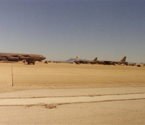 B-52s On Apron At Moron AB, Spain.