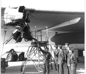 Crew E-22 assesses the damage.