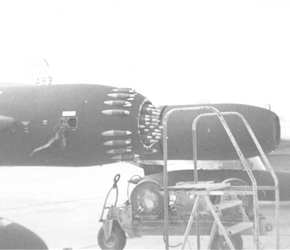 F-89 Scorpion A/C 32493 Loaded Rocket Pods. (1955)