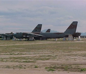 B-52Gs waiting their turn for the final solution…spare parts or the guillotine!